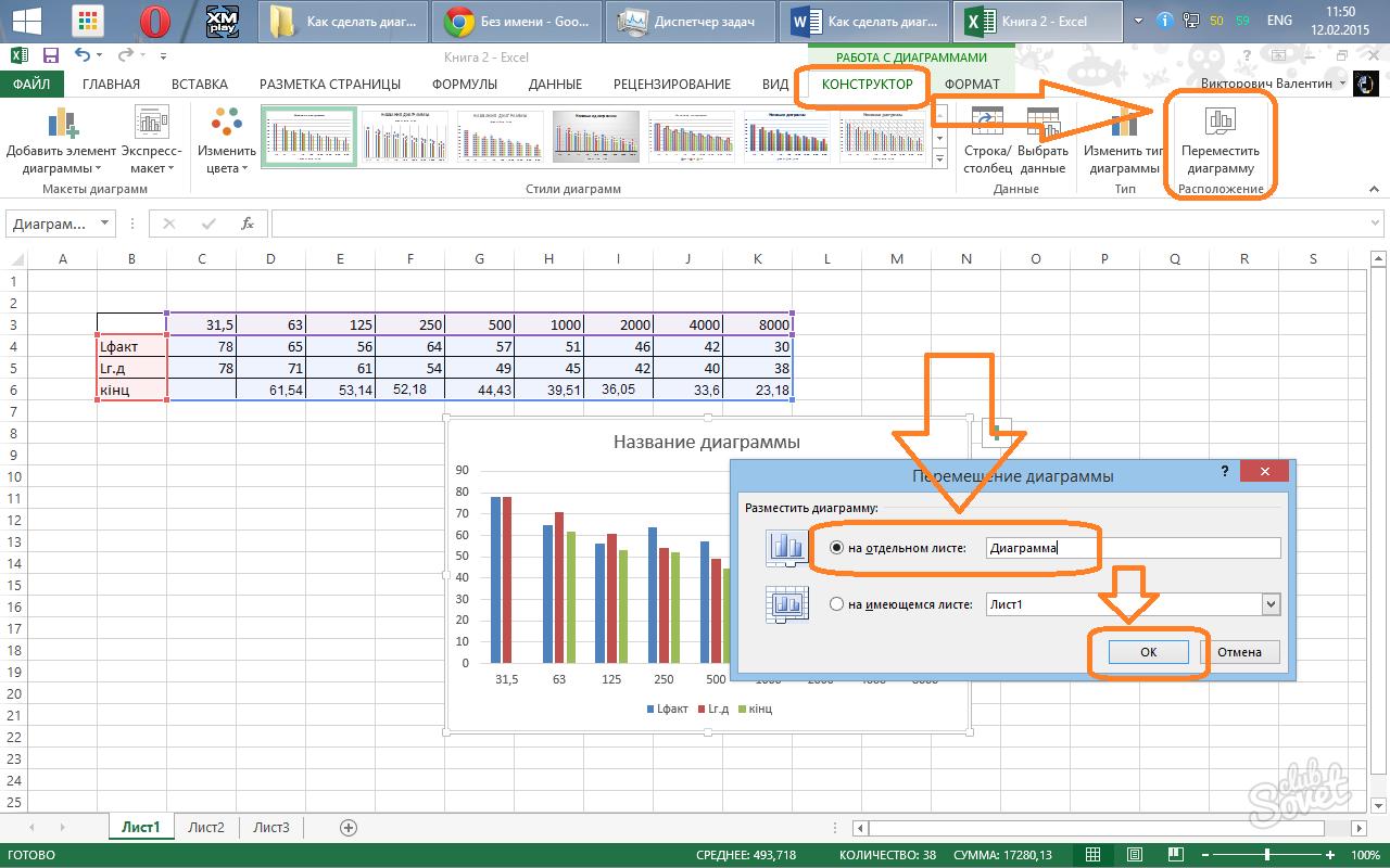 Как в ехеле сделать диаграмму - Apeks-school.ru