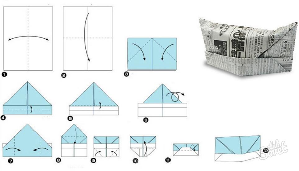 Как сделать шапку из бумаги