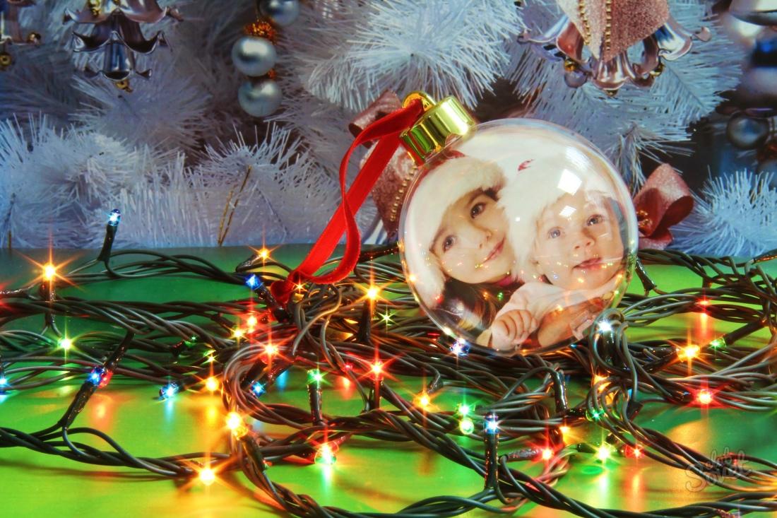 Как сделать новогодний шар с фотографией внутри фото 804