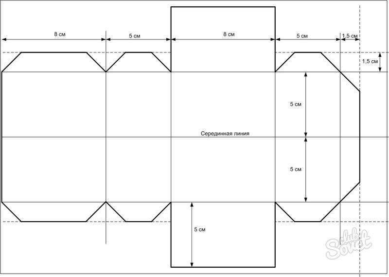Как сделать параллелепипед из картона фото 808