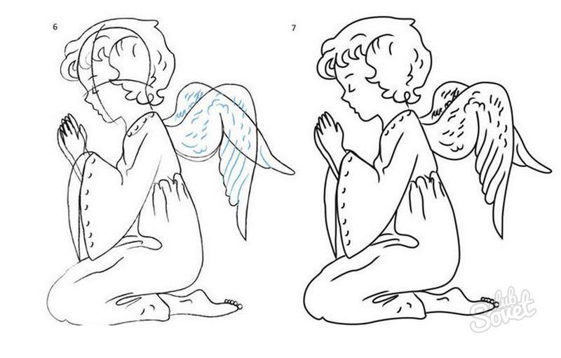 Картинки как рисовать ангела