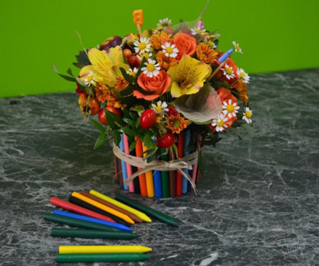 Букет учительнице своими руками, букеты цветы