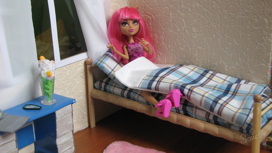 Кровать для куклы барби своими руками фото 53