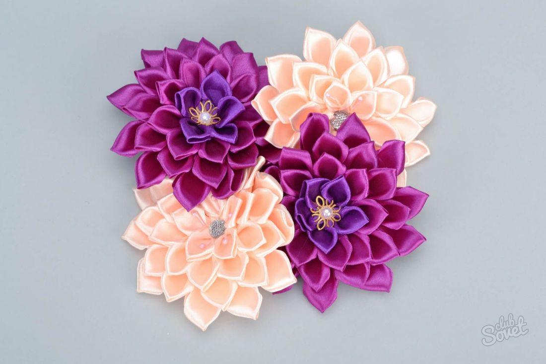 Цветы из ленты для волос своими руками фото 209