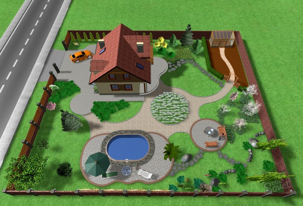 Дизайн участка маленькой площади