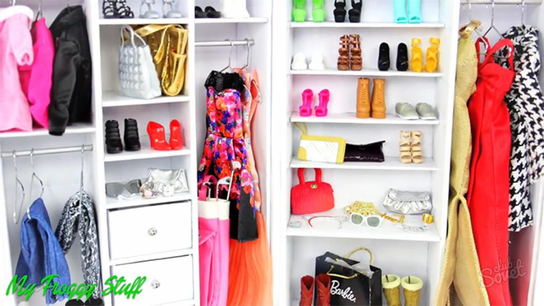 Как сделать шкаф для куклы барби фото 443
