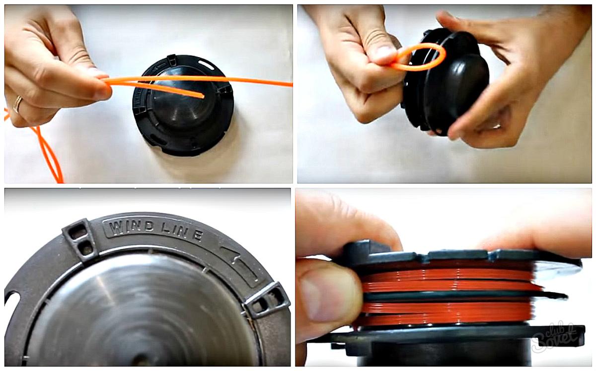 как заменить леску на мотокосе фото