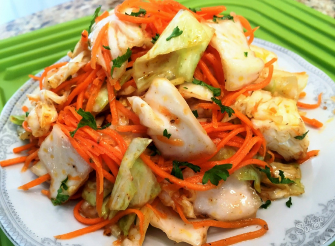 Как сделать салат по-корейски из капусты