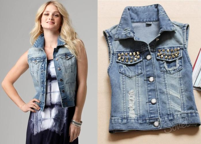 Как сделать из старой джинсовой куртки новую модную