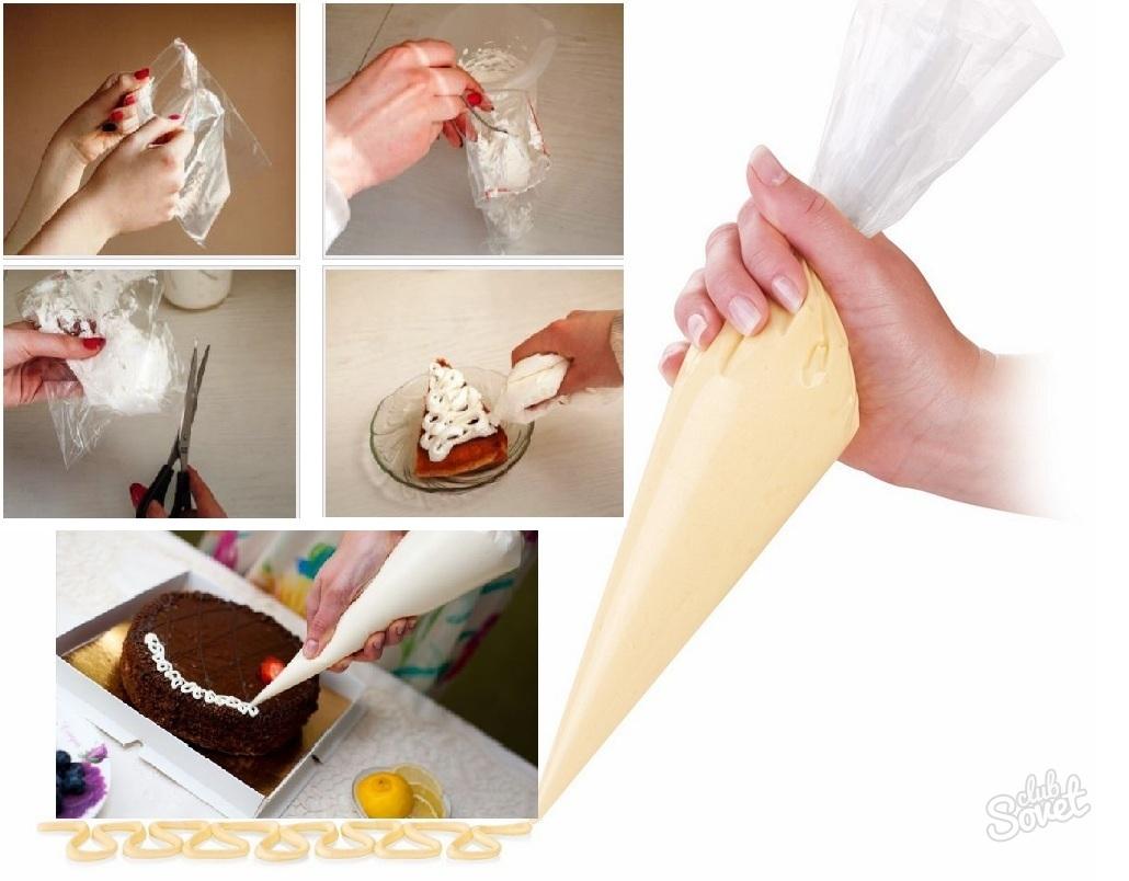 Как сделать для крема кондитерский мешок фото 417