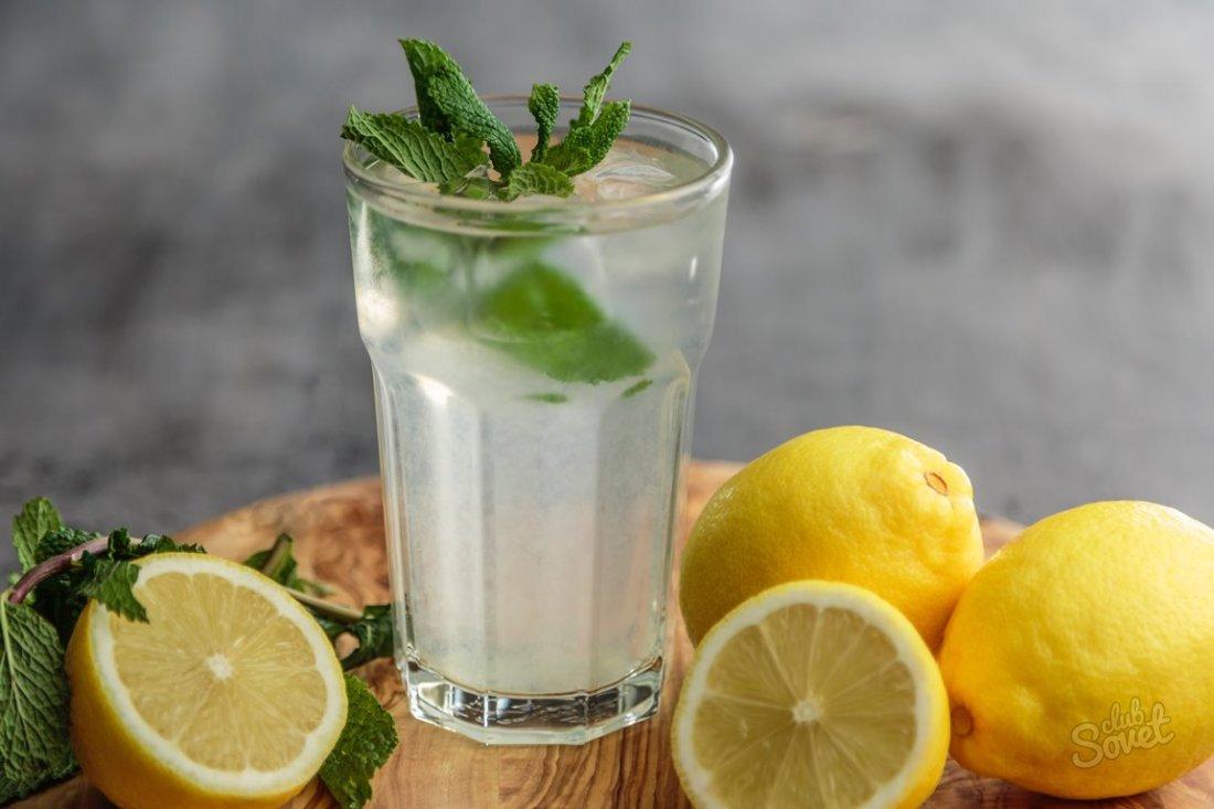 Как сделать лимонную воду