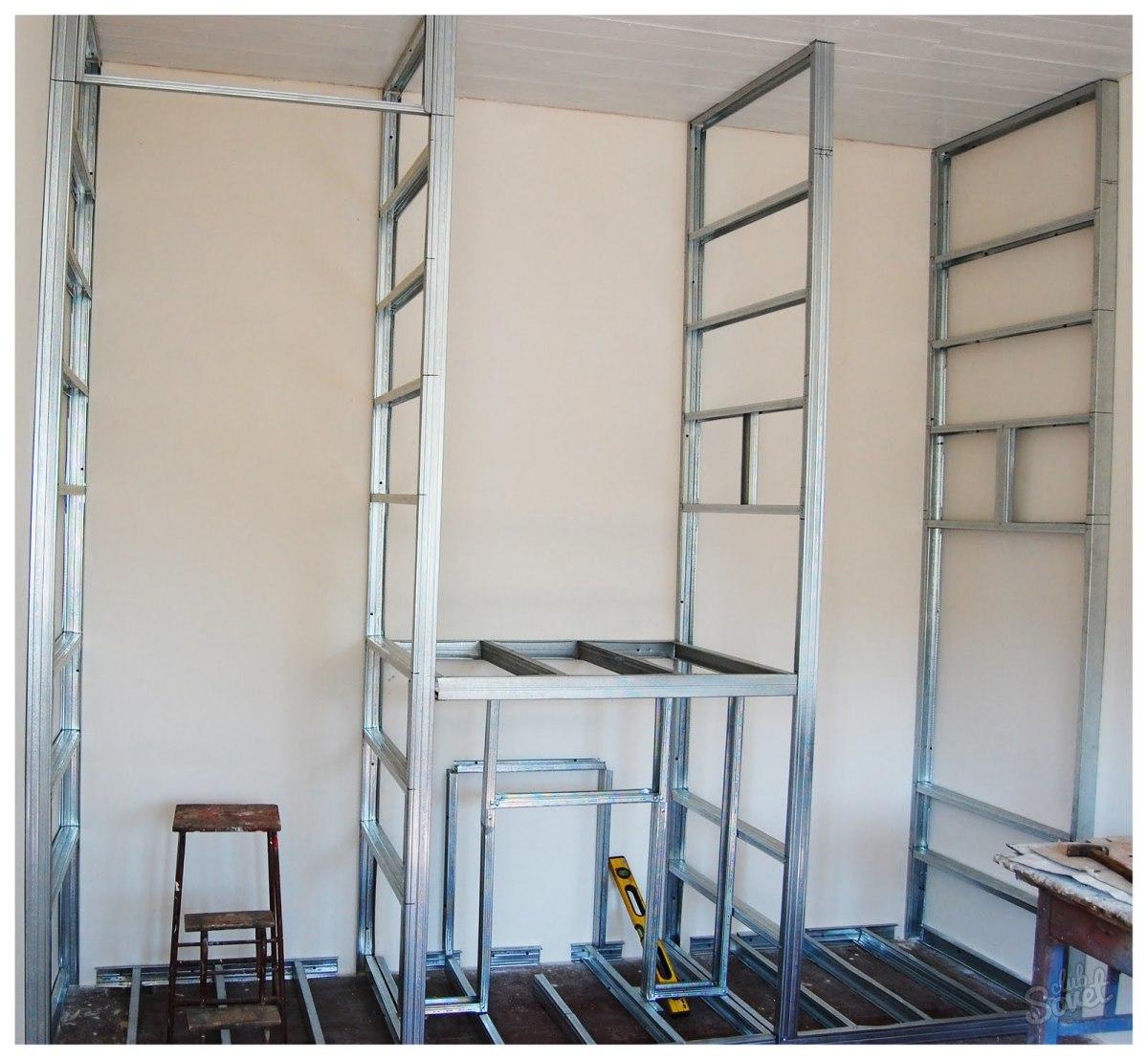 Шкафы из гипсокартона пошаговая инструкция