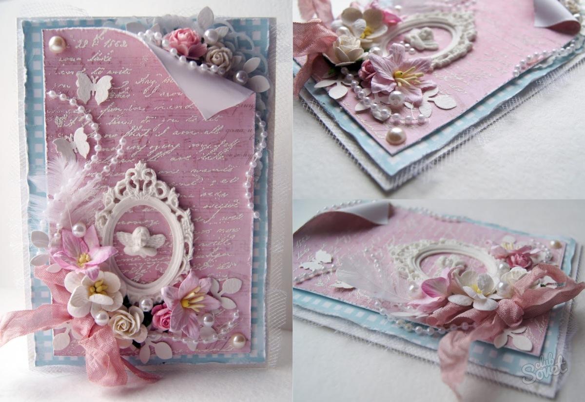 Открытка ручная, открытки внутренней стороны
