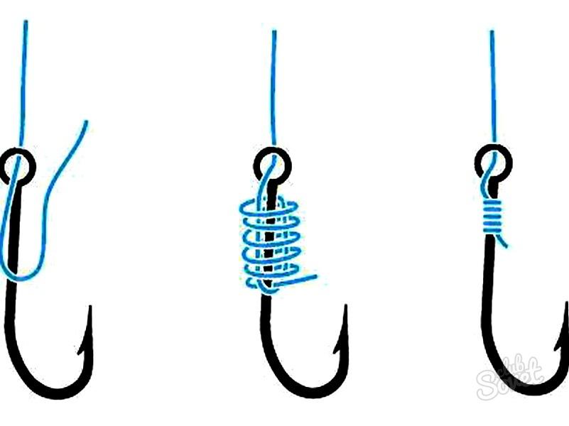 Способы привязывания крючка к леске в картинках