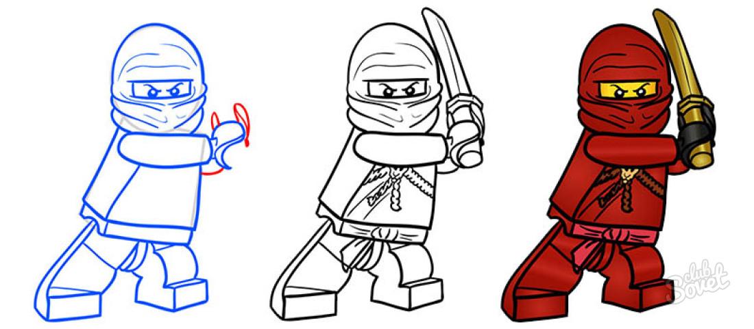 Лего ниндзя го картинки как нарисовать