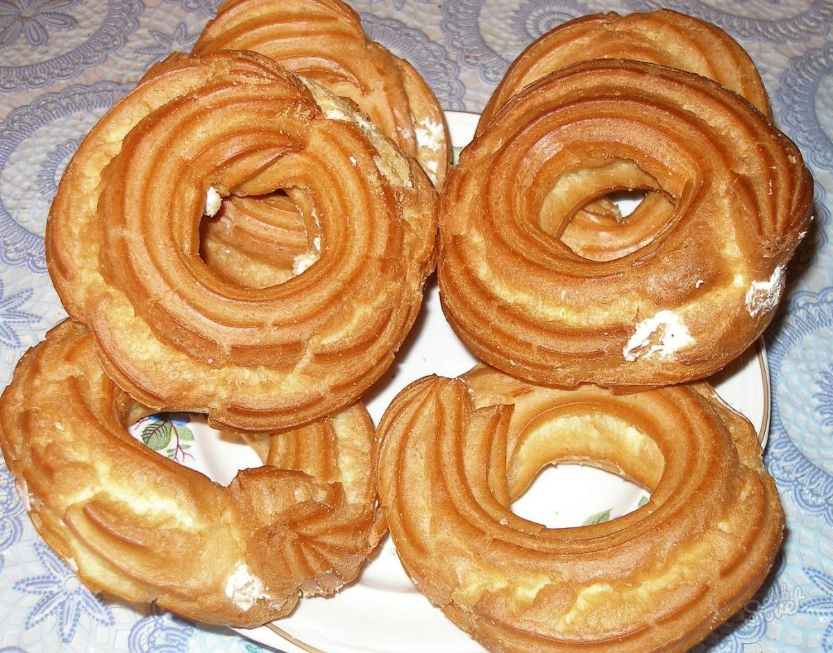 Заварные кольца рецепт с фото пошагово