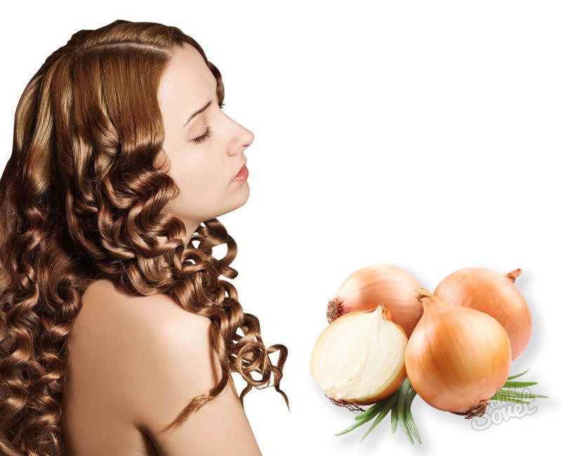 Маска для волос с луком и яйцом для роста волос
