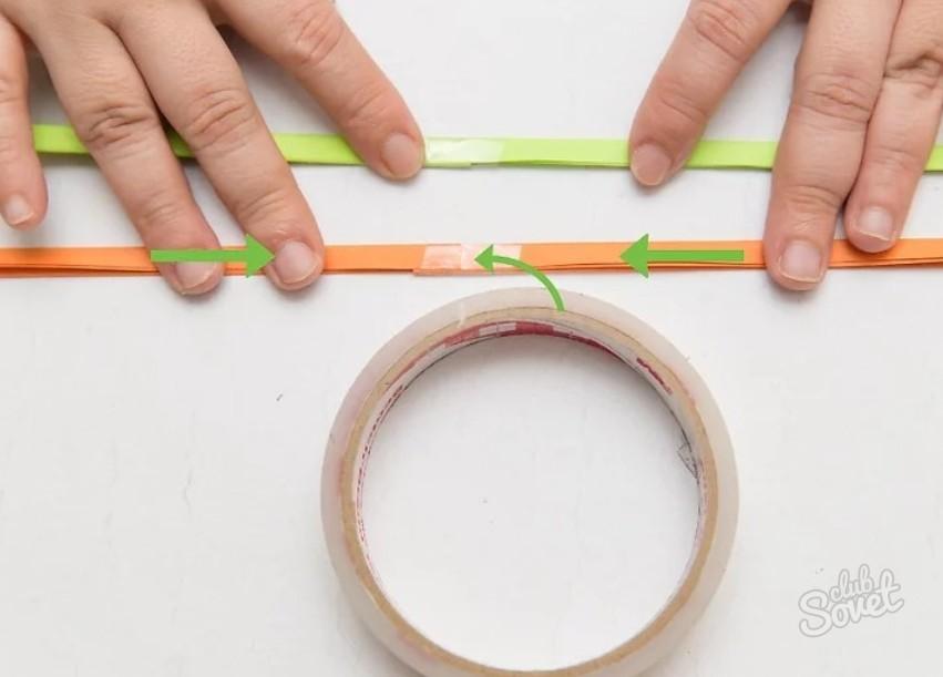 браслеты из цветной бумаги навести телефоне