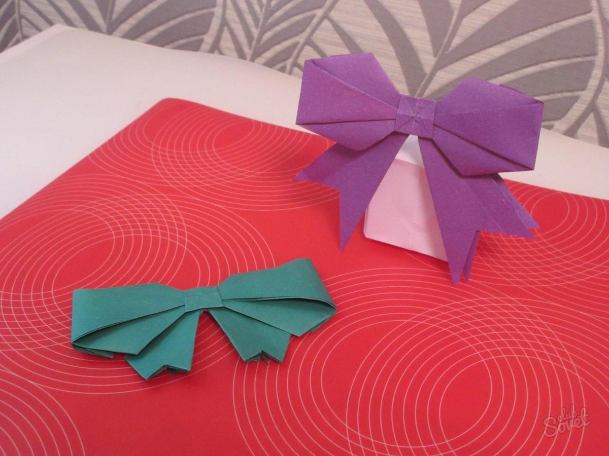 Бантик на открытку своими руками из бумаги