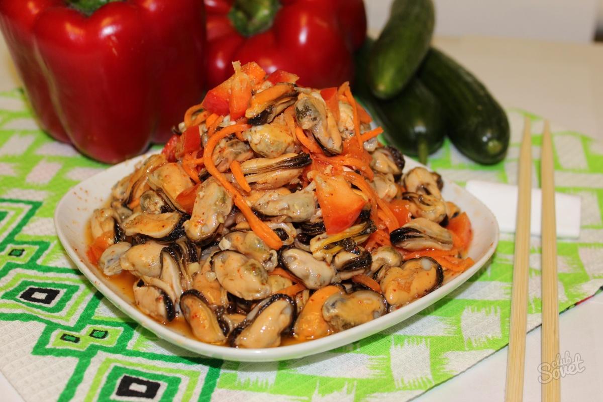 маринованные мидии рецепт по корейски