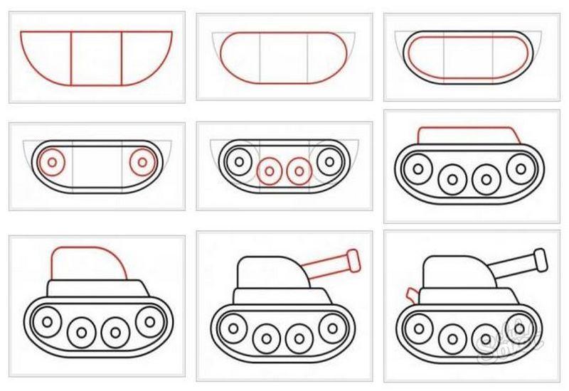 картинки танка поэтапно для начинающих окрас