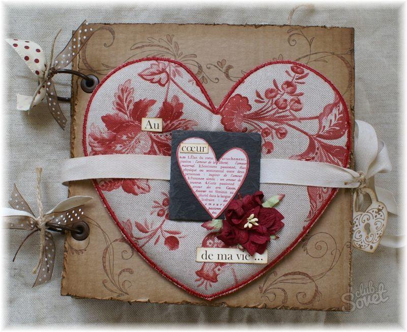 Сентября, скрапбукинг открытки с валентинками