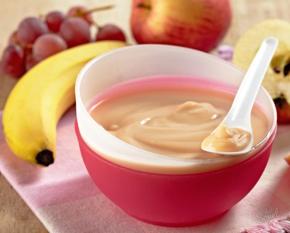 Как приготовить детям фруктовое пюре
